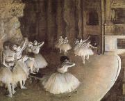 Edgar Degas Rehearal of a Baller on Stage oil painting reproduction