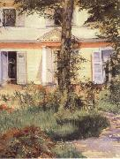 Edouard Manet House at Rueil painting