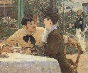 Edouard Manet In the Garden Restaurant of Pere Lathuille oil painting reproduction