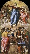 El Greco The Assumption of the Virgin oil painting reproduction