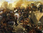 Eugene Delacroix The Battle of Taillebourg china oil painting artist