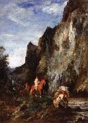 Eugene Fromentin Arab Horsemen in a Gorge china oil painting reproduction