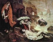 Ford Madox Brown Haydee Discovers the Body of Don Juan painting