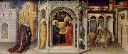 Gentile da Fabriano baby Jesus in the temple frambares oil painting reproduction
