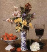 Henri Fantin-Latour Still lIfe with Flowens and Fruit oil painting reproduction