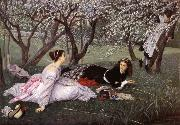 J.J.Tissot Spring oil painting reproduction