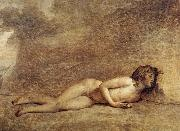 Jacques-Louis  David The Death of Bara oil on canvas