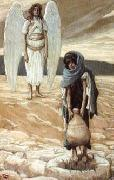 James Tissot Hagar and the Angel in the Desert painting
