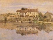 Jean-francois raffaelli House on the Banks of the Oise painting