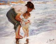 Joaquin Sorolla Y Bastida On the Beach painting