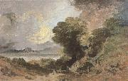 Joseph Mallord William Turner The tree at the edge of lake oil painting reproduction