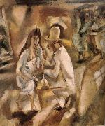 Jules Pascin Hawana in the grogshop painting