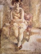 Jules Pascin Have red hair Lass painting