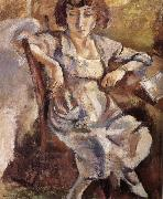 Jules Pascin Portrait of woman oil painting reproduction