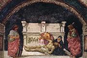 Luca Signorelli Lamentation over the Dead Christ with Sts Parenzo and Faustino oil painting reproduction