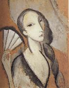 Marie Laurencin Fan oil on canvas