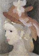 Marie Laurencin Woman wearing the pearl oil painting reproduction