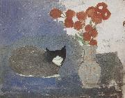 Marie Laurencin The Cat on the table oil on canvas