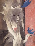 Marie Laurencin The Self-Portrait with birds oil on canvas