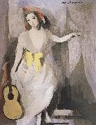 Marie Laurencin Takeing the guitar-s girl china oil painting artist