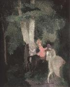 Marie Laurencin The female on the horse back oil on canvas