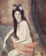 Marie Laurencin The naked woman holding a piece of mirror oil on canvas
