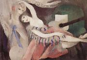Marie Laurencin Girl and Guitar oil on canvas