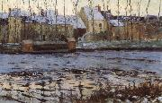 Maurice cullen Winter at Moret oil on canvas