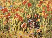 Robert William Vonnoh Poppies oil