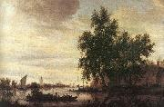 Saloman van Ruysdael The Ferryboat oil