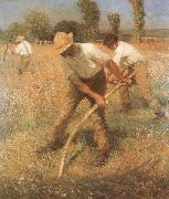 Sir George Clausen,RA The Mowers oil
