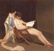 Theodore Roussel The Reading gril oil