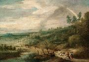 UDEN, Lucas van An Extensive Landscape oil painting reproduction
