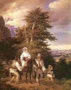 unknow artist Rumanian Family Going to the Fair oil painting reproduction