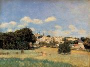 Alfred Sisley View of Marly-le-Roi-Sunshine oil painting