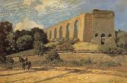 Alfred Sisley The Aqueduct at Marly oil painting