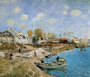 Alfred Sisley Sand on the Quayside,Port Marly oil painting