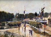 Alfred Sisley Fete Day at Marly-le-Roi oil painting