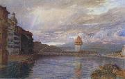 Alfred William Hunt,RWS Lucerne (mk46) oil