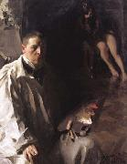 Anders Zorn Self-Portrait with Model (nn02) oil painting