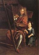 Antoine Coypel Portrait of the Artist with his Son,Charles-Antoine oil on canvas