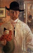 Carl Olaf Larsson Self-Portrait oil painting reproduction