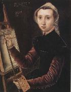 Catharina Van Hemessen Self-Portrait oil on canvas