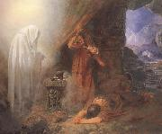 Edward Henry Corbould,RI,RWS Saul and the Witch of Endor (mk46) oil on canvas