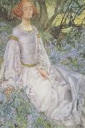 Eleanor Fortescue-Brickdale,RWS In the Spring Time (mk460 oil