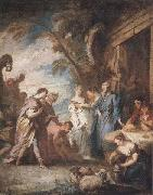 Francois Boucher Welcoming the Servant of Abraham oil painting reproduction