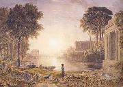 George Barret Classical Landscape Sunset (mk47) oil painting