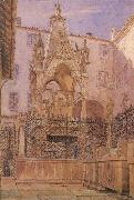 George Price Boyce,RWS Tomb of Mastino II della Scala (mk46) oil