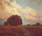 Granville Redmond Trees by a Meadow Stream oil