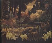 Henri Rousseau The Lion Hunter oil painting reproduction